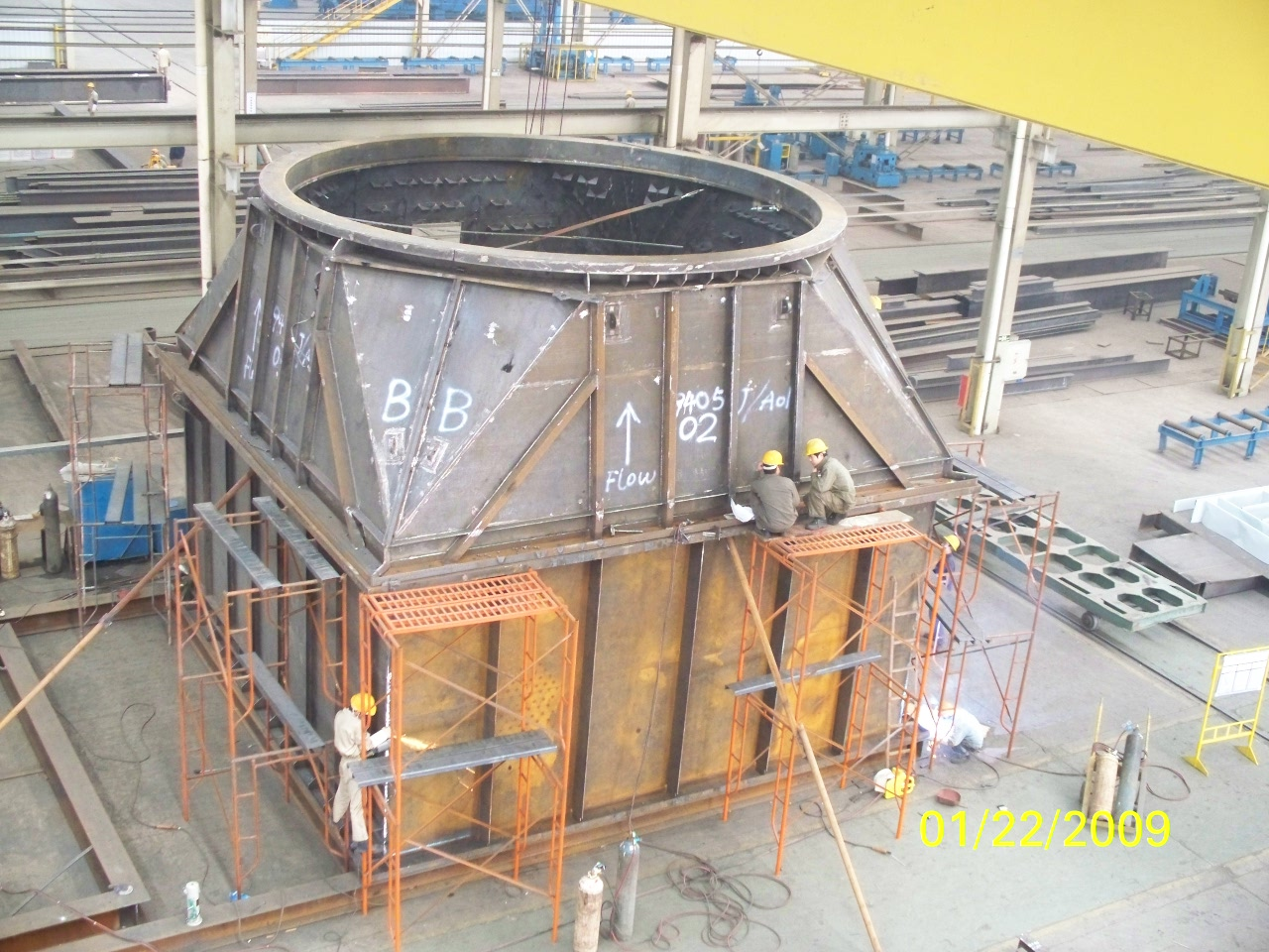 Steel Structures Exhaust System For French Alstom Power Plant Equipment pic six