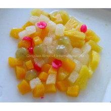 Frucht-Cocktail-Fruchtsalat in Zinn, Glas, Plastikbecher Verpackung
