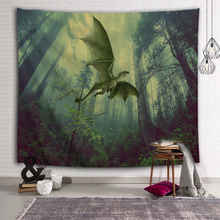 Flying Dinosaur Tapestry Wall Hanging Wild Anicient Pterosaur Wall Tapestry Tropical Rain Forest dla dzieci Sypialnia Living Roo