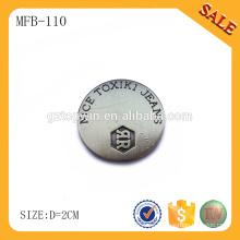 Botón desmontable de encargo del botón del metal de MFB110 / botón de los pantalones vaqueros de la manera