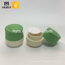 nouveau style 30 ml 50 ml couleur verte en plastique pp crème pot