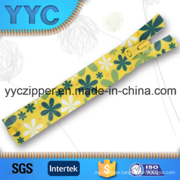 # 5 Printed Waterproof Nylon Separating Zippers with Open End