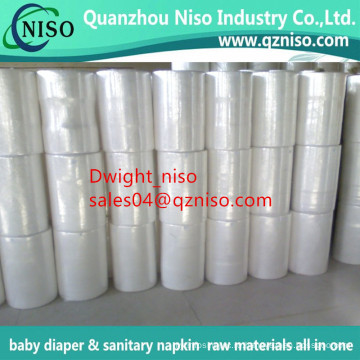 PP спанбонд мягкий Гидрофильный Non Сплетенный рулон ткани для пеленки младенца