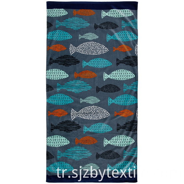 Beach Ball Theme Pattern Towel
