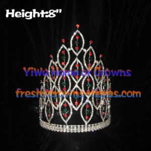 Wholesale 8inch Height Pageant Spike Crowns