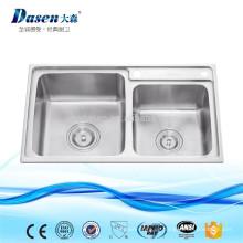 Pinsel Nickel Doppel Schüssel Tischplatte High-End chinesischen Küchenspüle
