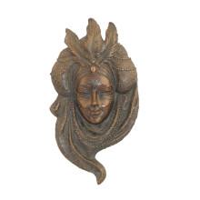 Relieve Bronce Estatua Máscara Pluma Relievo Bronce Escultura Tpy-886
