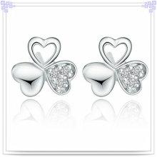 Moda jóias brinco de cristal 925 jóias de prata esterlina (se021)