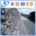 Gabions baskets filled with rock form flexible
