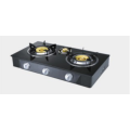 Tre Burner Glasstop Brass Burner Gas Hob