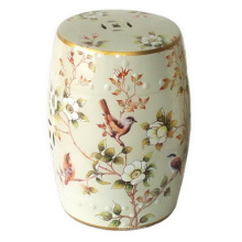 Tabouret de jardin en porcelaine Spring Birds