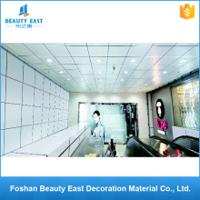 Low price interior decorative materials square pvc ceilings suspended aluminum ceiling tiles