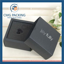Black Card Folded Paper Box with Sponge