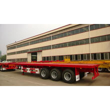 Quality Inspection for for CIMC Flatbed Trailer L 40 Tri Axle Flatbed Semi Trailer supply to Equatorial Guinea Exporter