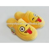 Popular Winter Warm Indoor Soft Plush Emoji Slippers For woman