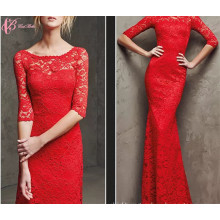 2017 New Red Lace Hot Evening Dinner Dress Sexy Prom Tube Dresses