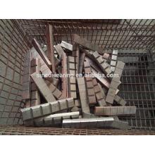 High Chromium Precision Casting Stahl Chocky Bar und Tragen ButtonCr26 Schutz der Eimer Zähne