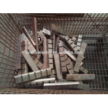 High Chromium Precision Casting Steel Chocky Bar and Wearing ButtonCr26 protection of bucket teeth