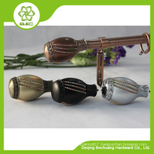 2015 new design metal curved curtain rods