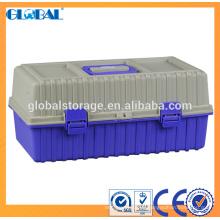 Venta caliente caja de herramientas de plástico de 19 pulgadas con cerradura de cerrojo