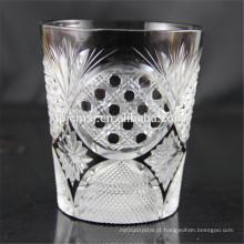 Novo design de vidro engelhado para beber