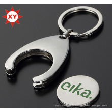 Porte-clés fait sur commande de pièce de chariot à placage de nickel de logo