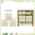 factory Foldable Cotton Storage Box Bag/Foldable Cube Storage Bin Box/Office Desktop Storage Basket