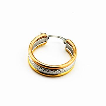 Großhandel Edelstahl IP Gold Ohrring Rücken, Ohrring Edelstahl