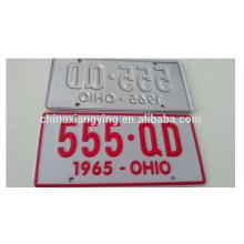 Kundenspezifische prägeartige kleine Auto-Platte / Auto-Platte / dekorative reflektieren Auto-Platte