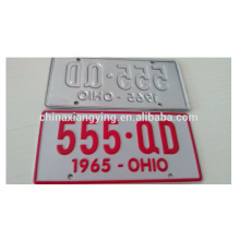 Custom Embossed Small Car Plate /Car Plate/Decorative Reflect Car Plate