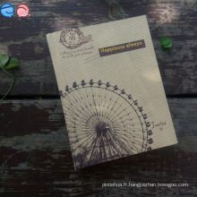 Kraftpaper Cover Notebook Side Printing A6 Taille Notebook