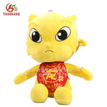 Dragão dourado Dragão chinês brinquedo de pelúcia