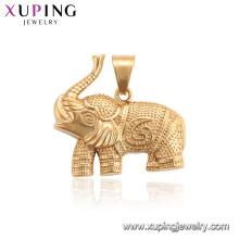 34201 xuping charme neutro elefante animal pingente banhado a ouro