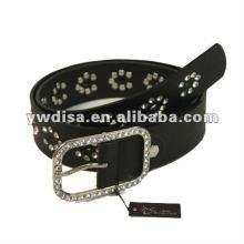 Correia do plutônio das mulheres com plutônio preto, rhinestones desobstruídos, accessoris da liga com o rhodium chapeado