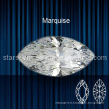 Marquise Shape Brilliant Cut Cubic Zirconia pour bijoux
