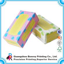 logotipo personalizado impreso papel jabón único paquete de caja de papel