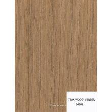 folheado de madeira de teca artificial