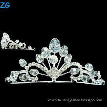 Stylish A Level Crystal prom queen crown and crystal wedding crown