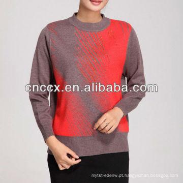 12STC0538 camisola de lã das mulheres em parte de lantejoulas 2013