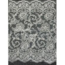 Гипюр кружевной ткани с жемчугом и блестками свадебное кружево тюль CTC073B