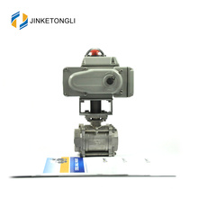 JKTLEB035 electric actuated natural gas dn15 motorized ball valve