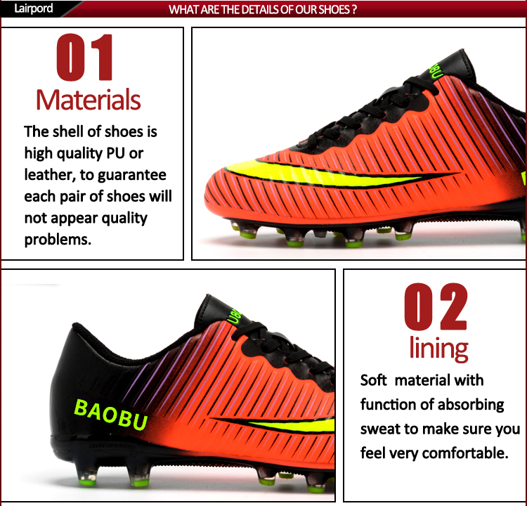 colorful football shoes soccer