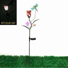 Fantástico Mosaico Flor Decoración Metal Dragonfly Garden Stake Craft
