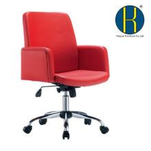 Cadeira do escritório do couro do plutônio do melhor vendedor vermelho / mobília de escritório meados de da cadeira da mesa traseiras