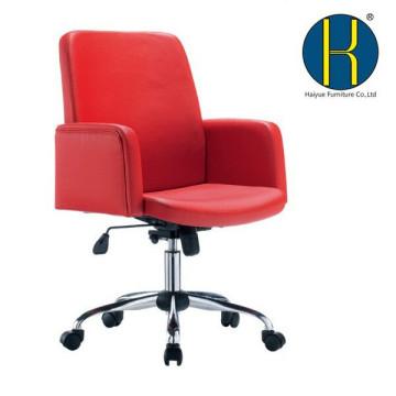 Le meilleur vendeur rouge PU cuir chaise de bureau / mi bureau de bureau de chaise de bureau arrière
