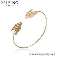 51860 Pulseira de seta elegante pulseiras indiano banhado a ouro mulheres pulseira