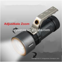 Lampe torche à led, mini lampe de poche, lampe torche rechargeable
