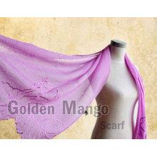 Модный шелковый хиджаб 100% с вышивкой