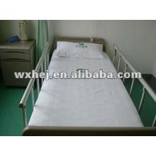feuille de literie d'hôpital mis coton nuage par medline équipé plat et oreiller 3 pcs ensemble de literie d'hôpital