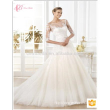 2017 New design Long sleeve gown bridal sexy mermaid wedding dress